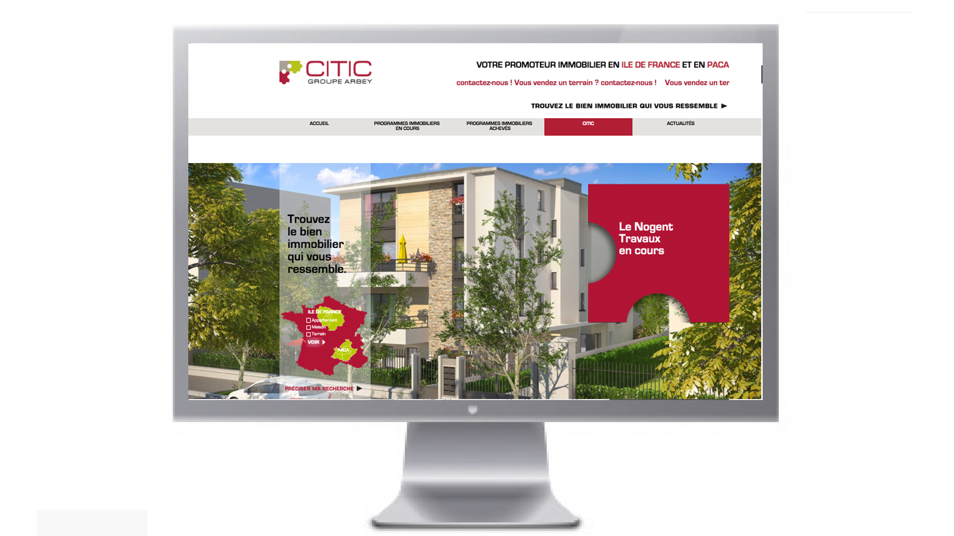 Site internet CITIC.fr réalisé par IBSTUDIO Agence de communication à Uzès