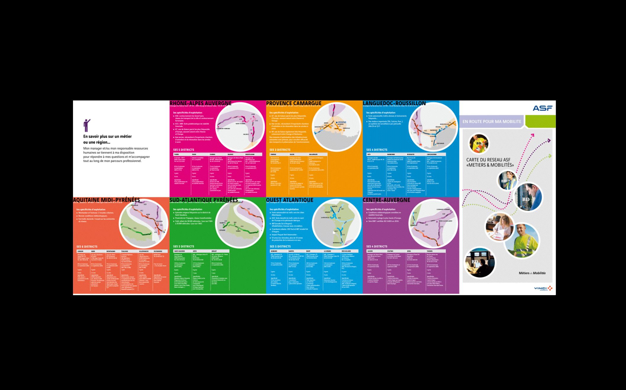 ASF VINCI AUTOROUTE : Campagne interne mobilité Création des supports de la campagne par IB STUDIO Idées et Images Uzès