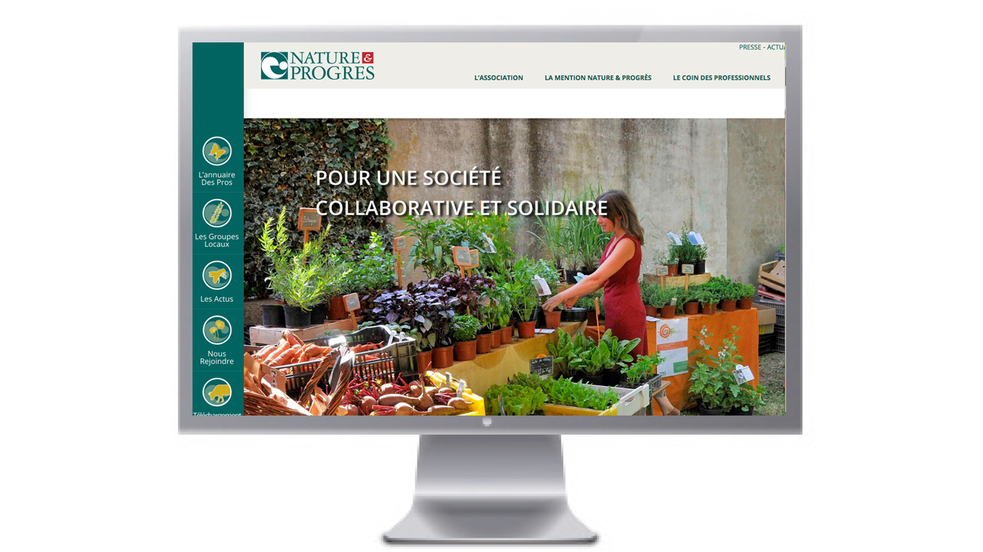 Site internet Nature et Progrès