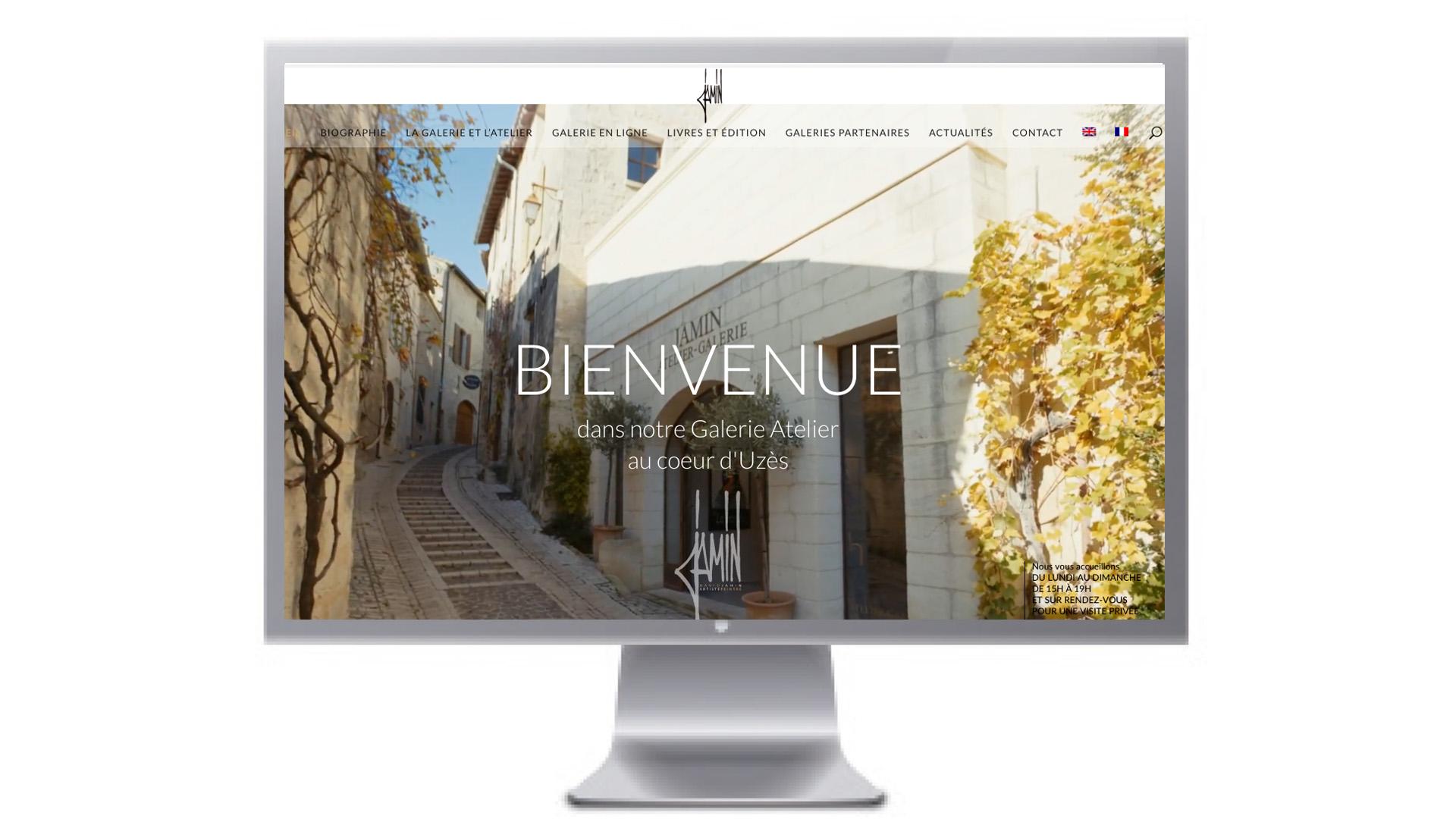 IB STUDIO (Agence de Communication Uzès) a réalisé le site de l'Office de la Culture d'Uzès
